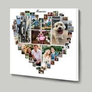 Design your own Heart Shaped Photo Collage using our online template 41 picture layout